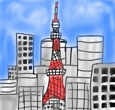 東京タワーの絵